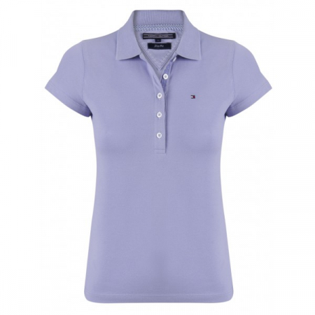 PACK 5 Ladies polo piqué shirt by Tommy Hilfiger purple0