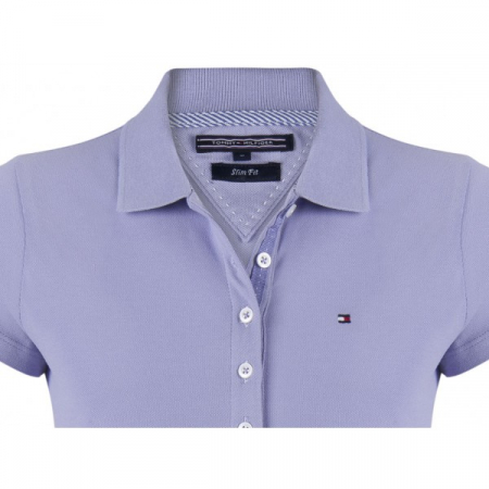 PACK 5 Ladies polo piqué shirt by Tommy Hilfiger purple1