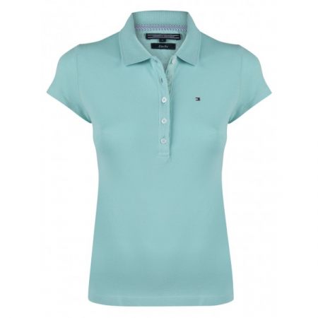 PACK 5 Ladies polo piqué shirt by Tommy Hilfiger turquoise0