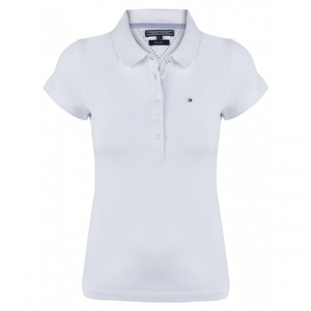 PACK 5 Ladies polo piqué shirt by Tommy Hilfiger white0