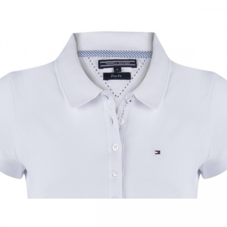PACK 5 Ladies polo piqué shirt by Tommy Hilfiger white1