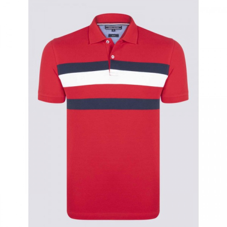 PACK 5 Tommy Hilfiger men's polo shirt red0