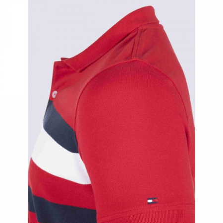 PACK 5 Tommy Hilfiger men's polo shirt red1