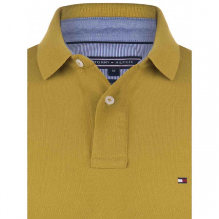 PACK 5 Tommy Hilfiger Men's Polo Shirts Mustard1