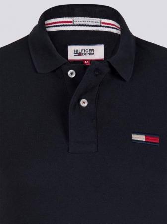 PACK 7 Tommy Hilfiger Men's Polo Shirts Regular Fit Black1