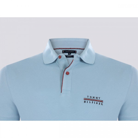 PACK 5 Tommy Hilfiger polo shirt light blue2