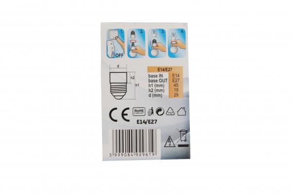 Adaptor soclu  E14 la E27 [1]