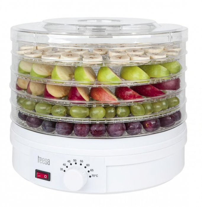Aparat de deshidratat si uscat fructe si legume, Teesa, 250W [0]