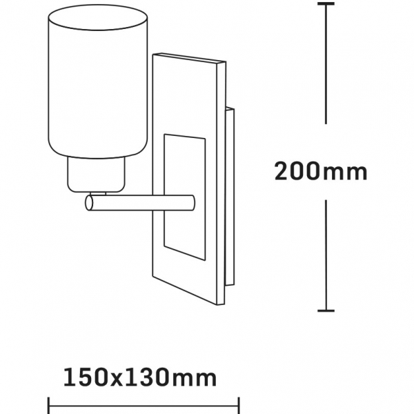 Aplica Andra, 1 x 60w, lemn, FST30164 [1]