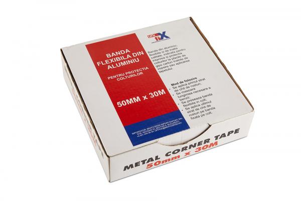 Banda flexibila din aluminiu 50 mm x 30 M, pentru protectia colturilor [1]