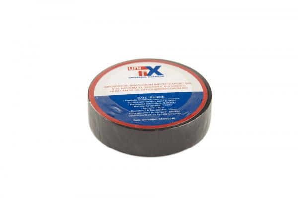 Banda izolatoare PVC ignifuga 19 mm x 20 M negru sau alb [1]