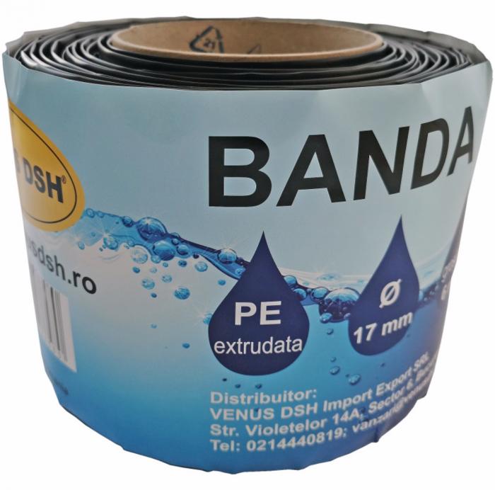 Banda picurare 300 metri, debit 2.8 litri/ora, distanta gauri 30cm, 17mm, 6mil ISO 9001 [1]