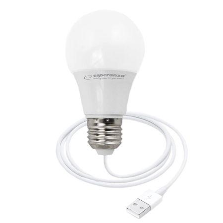 Bec cu LED lumina calda, alimentare la USB, 5W, lungime cablu 2.5m [0]