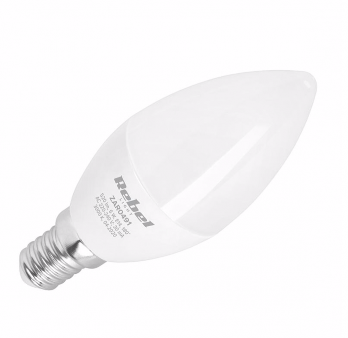 Bec LED 8W E14 3000K 230V Rebel Light [0]