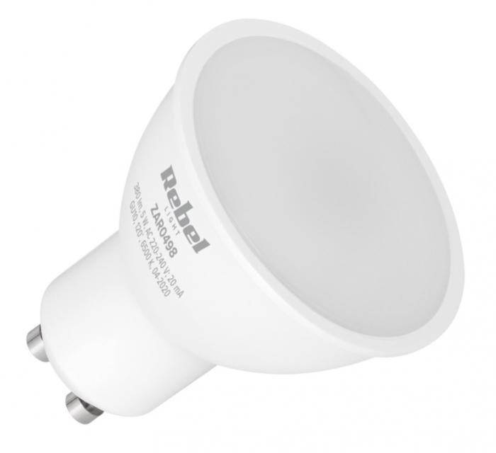 Bec LED GU10 5W 6500K 230V Rebel Light [0]