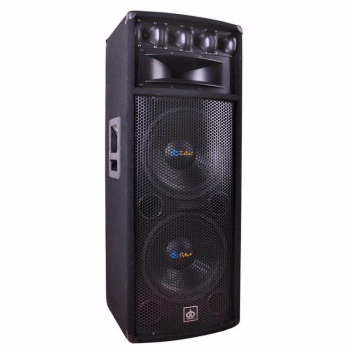 Boxa audio Pasiva Dibeisi , 2 difuzoare woofer ( Dimensiune 2 x 12 inch), 4 difuzoare tweeter, PMPO 800W , Sensibilitate 98 dB , Raspuns in frecventa 25 Hz - 20 kHz , Magnet woofer 40 oz [1]