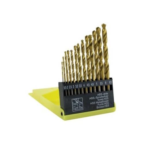 Burghiu metal Hss titanat set 13 ( 1,5-6,5 mm ) , greutate 128 grame [0]