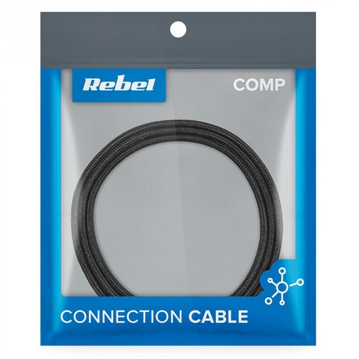 Cablu USB - Lightning 100 cm Rebel [1]
