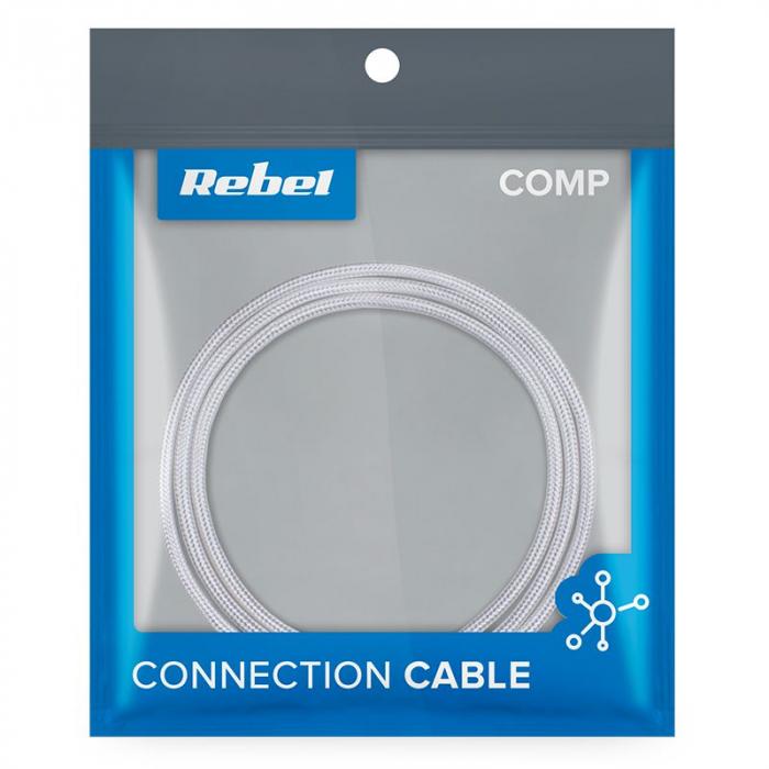 Cablu USB - USB tip C Rebel 50 cm, alb [1]