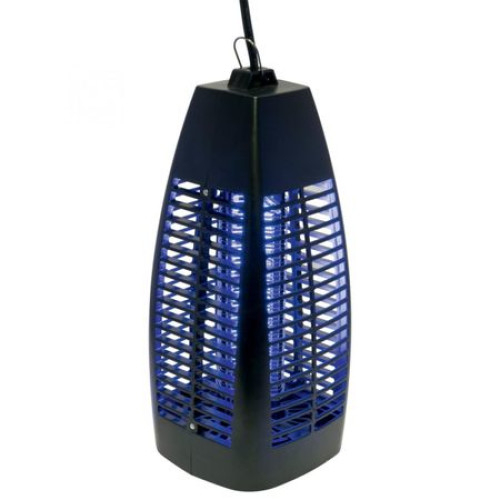 Capcana Electrica pentru Insecte, Putere 6 W, Raza de actiune 30 m², Tub luminos UV-A, Tava pentru colectare insecte, Alimentare 230 V / 50 Hz, Design Modern, Negru [0]