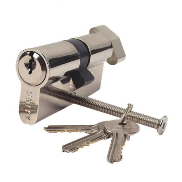 Cilindru siguranta 60mm (25-10-25), simetric, 3 chei, buton [0]