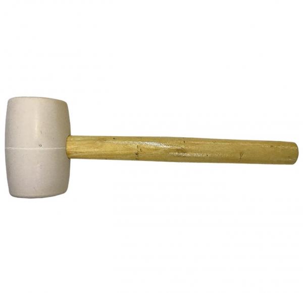 Ciocan de cauciuc tip francez, alb, greutate 450 g [0]