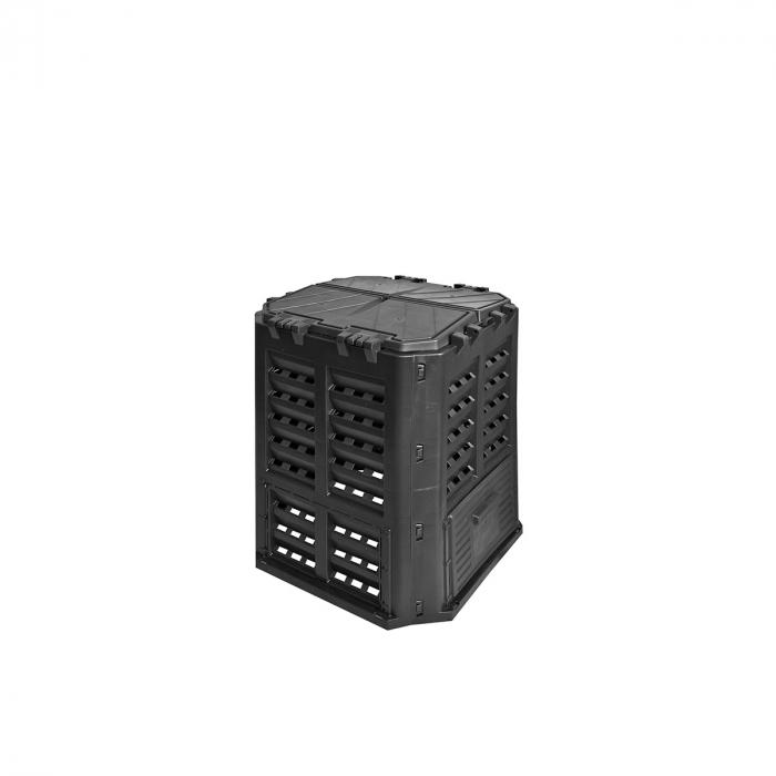 Compostor 360 litri, negru, 689 x 689 x 839 mm [0]