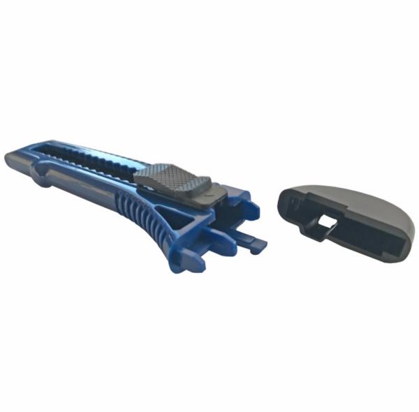 Cutter 0.5x18 MM, albastru cu 2 lame de rezerva [2]