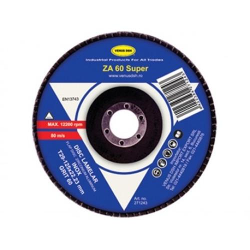 Disc lamelar frontal inox T29 - 125x22.23 mm ,granulatie 120 [0]