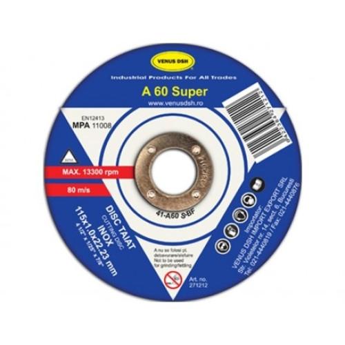 Disc taiat inox 41-A60 S -Bf -115x1.0x22.23 mm [0]