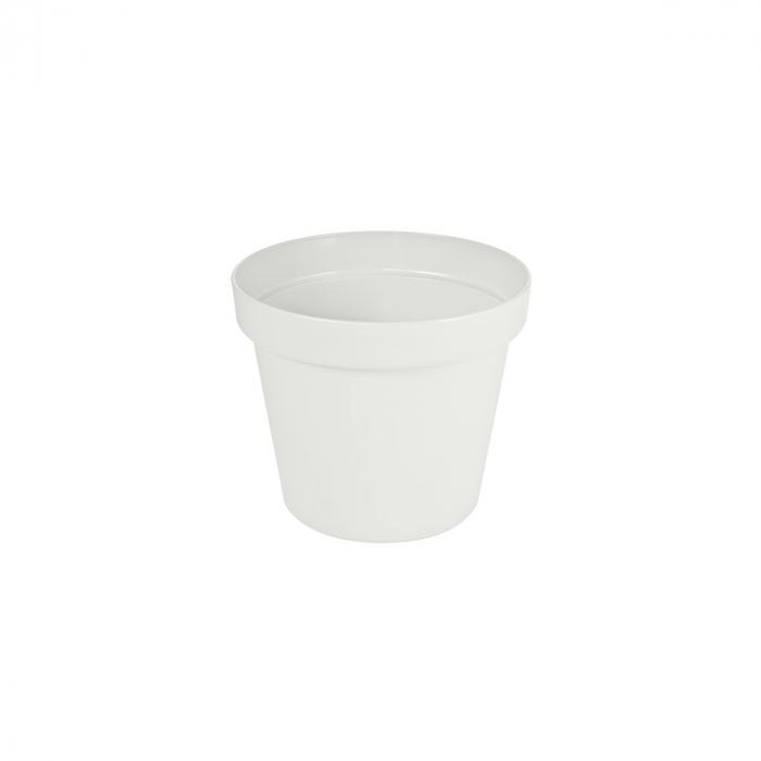 Ghiveci patio, alb, diametru 11 cm [0]