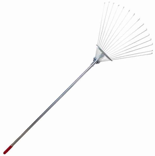 Grebla de frunze reglabila, 15 dinti ,cu coada metal, lungime 1500 mm [0]