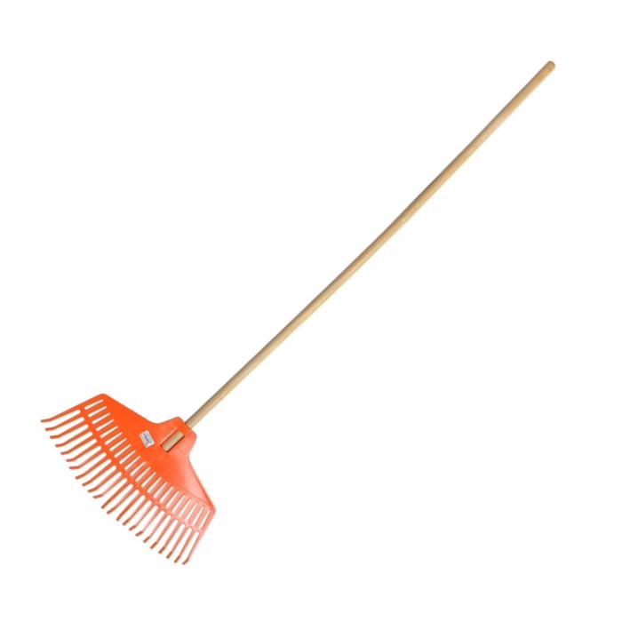 Grebla de plastic cu maner din lemn, 390 mm, 21 dinti [0]