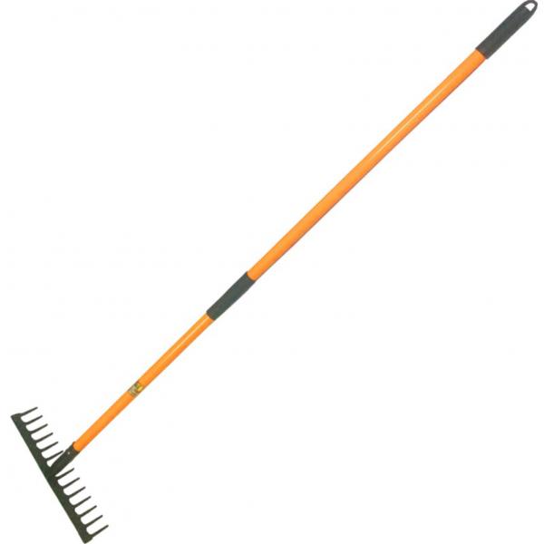 Grebla din otel vopsit ,14 dinti,latime 375 mm, coada fibra 1500 mm [0]