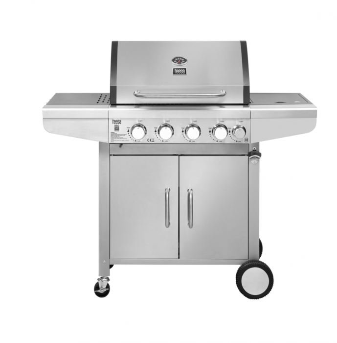 Grill gaz 5 arzatoare BBQ 5000 Master Grill Teesa argintiu [0]