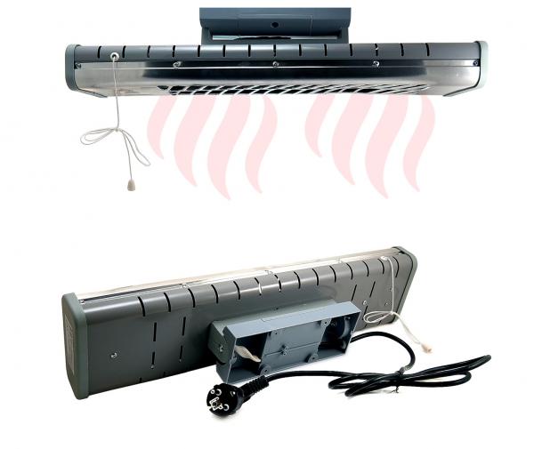Incalzitor infrarosu perete/tavan 3 trepte de putere - 1500W [2]