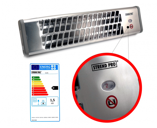 Incalzitor infrarosu perete/tavan 3 trepte de putere - 1500W [1]