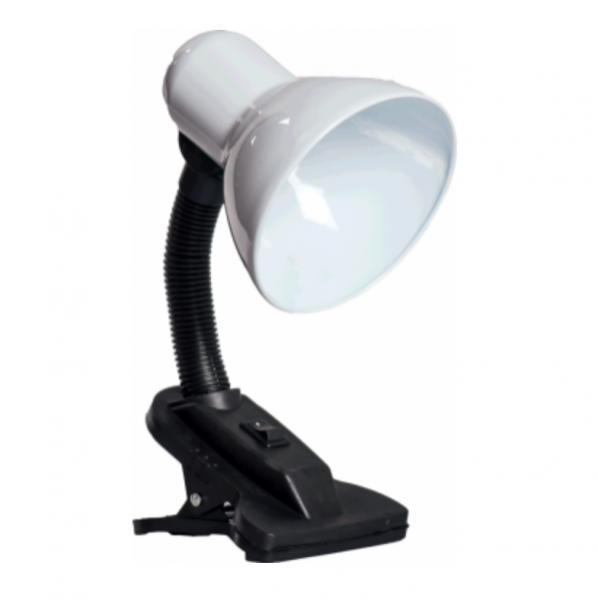 Lampa Birou Clip Alb 1XE27 [0]