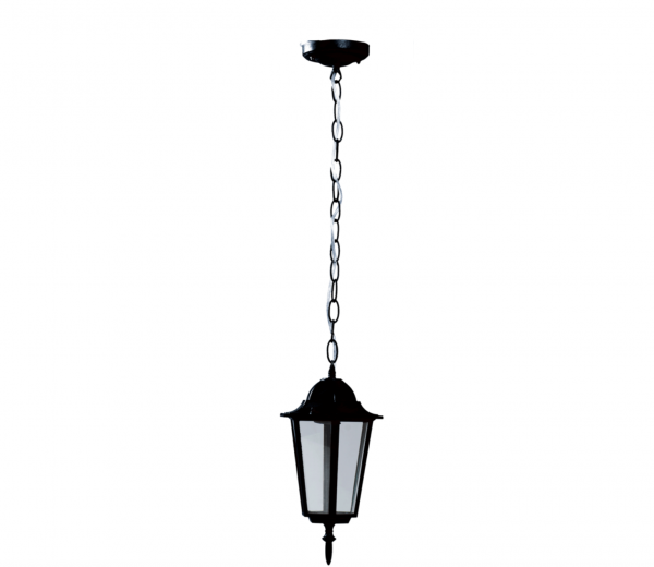 Lampa Gradina Corona Negru 1XE27 [0]