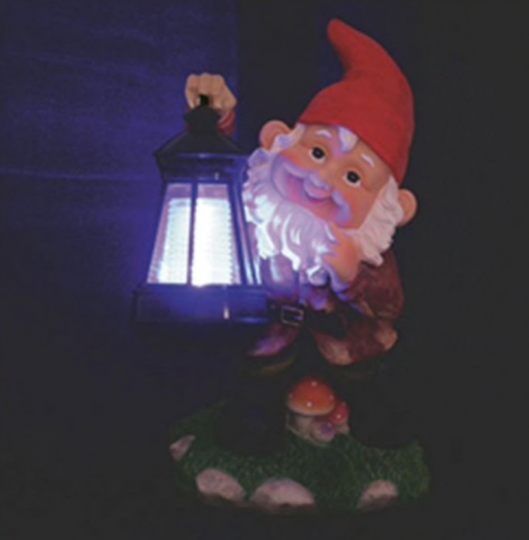 Lampa solara Pitic cu felinar pentru curte [1]