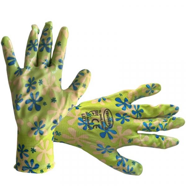 Manusi de protectie bumbac+poliester+latex pentru gradinarit, Lizy, marime M [0]