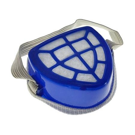 Masca anti-praf, cu filtru textil inlocuibil si capac protector, din plastic, 100x80x43mm, albastra [0]