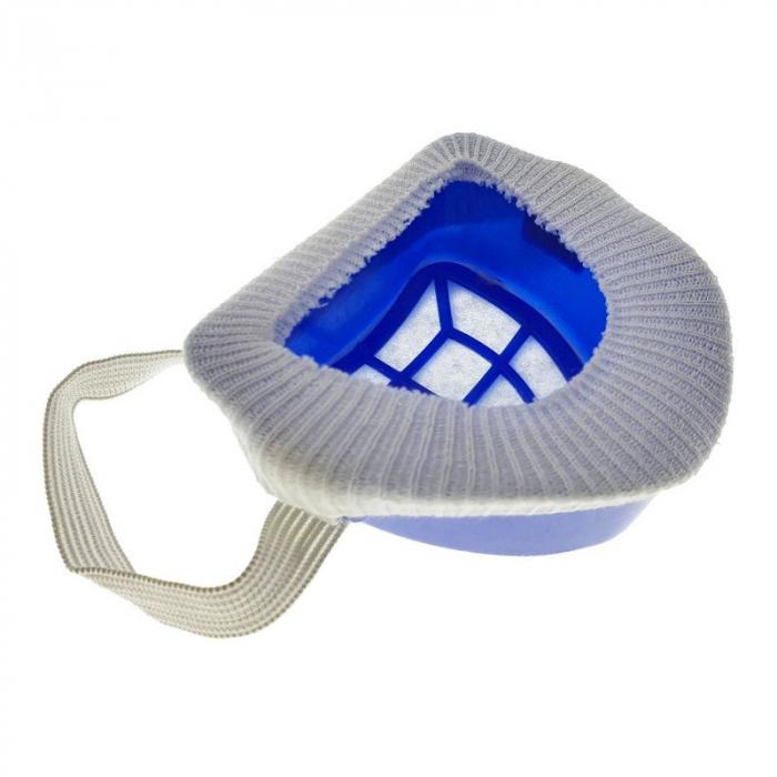 Masca anti-praf, cu filtru textil inlocuibil si capac protector, din plastic, 100x80x43mm, albastra [1]