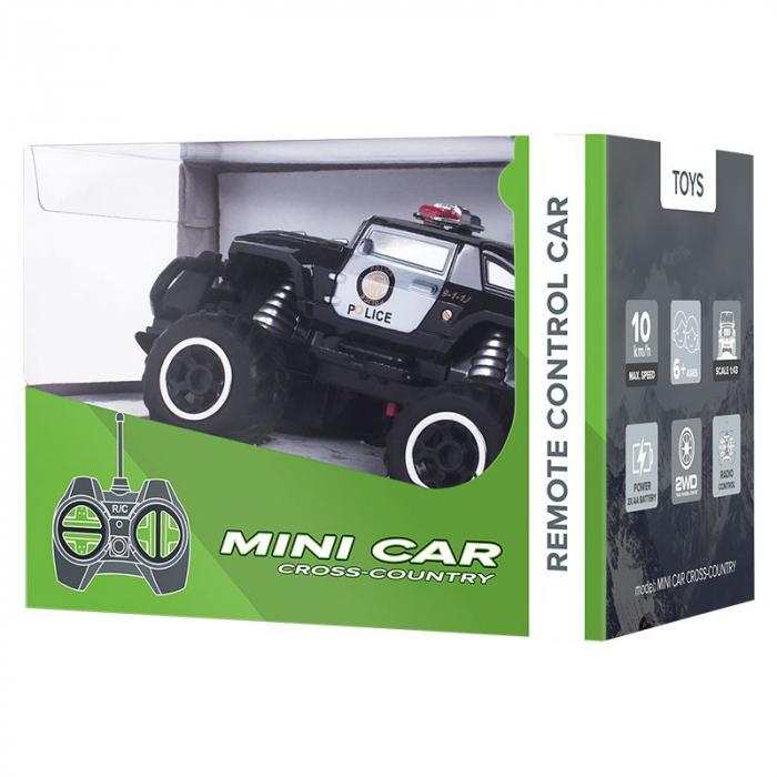 Masina cu telecomanda Mini RC Car Police Quer, scara 1:43 [2]