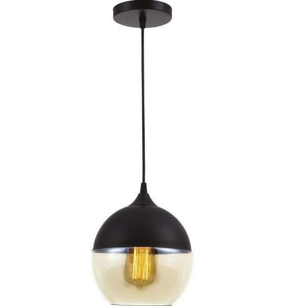Pendul Edison , 1x60w, glob sticla transparent , bronz antichizat, FST29477 [0]