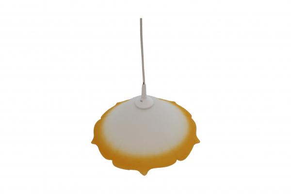 Pendul Szaffi , 1X E27, culoare sticla orange in degradeu, lungime cablu 1,2m [0]
