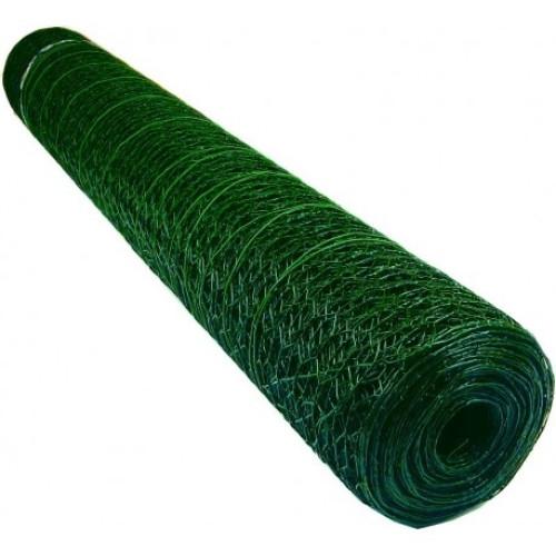 Plasa rabitz zincata ,plastifiata 1,0 X 10 metri - 1'' (25 mm) X 1.0 mm,greutate 2,88 kg [0]