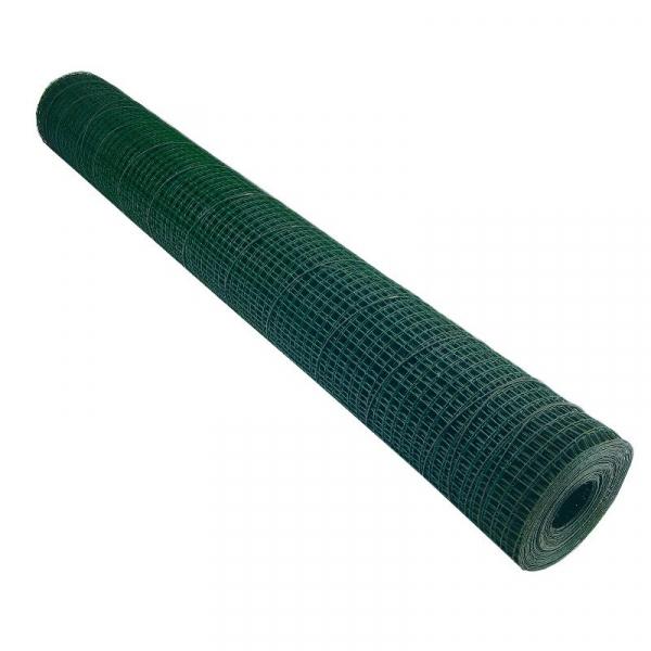 Plasa sarma zincata sudata plastifiata 1 x 10 m - 19 x 19 x 1.4 mm [0]