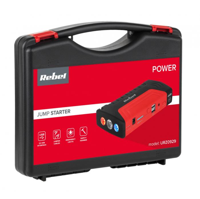 Power bank Jump starter Rebel Tools cu functie de pornire baterie auto [4]