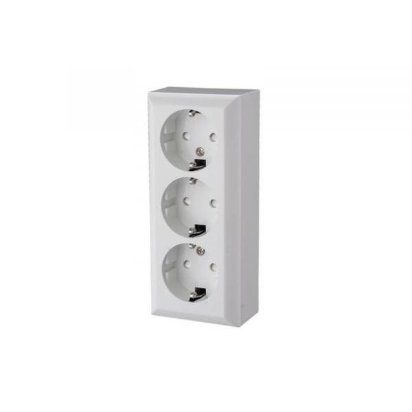 Priza de retea cu impamantare, 230V, 3 socluri, IP20, de interior, Home [0]